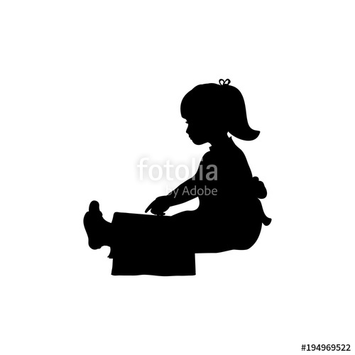 500x500 Silhouette Of Girl Reading Books Stock Image And Royalty Free