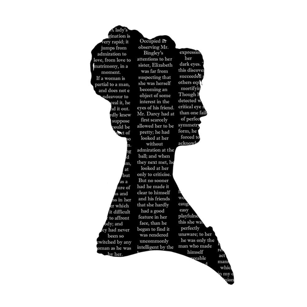 1000x1000 Silhouette Pride And Prejudice Elizabeth Bennet Mr
