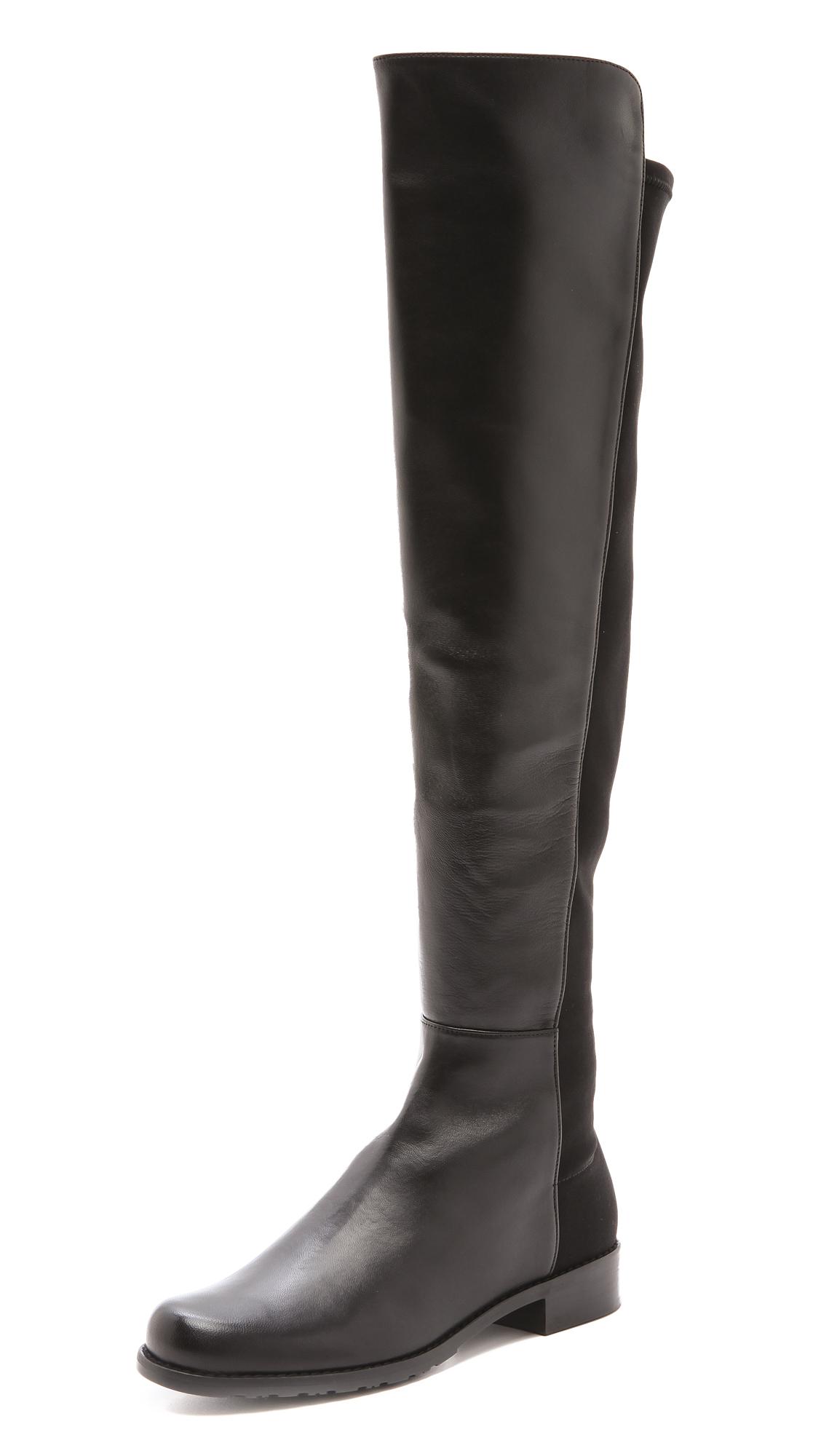 1128x2000 Stuart Weitzman Womens Shoes 5050 Flat Boots A Tonal Panel Of Soft
