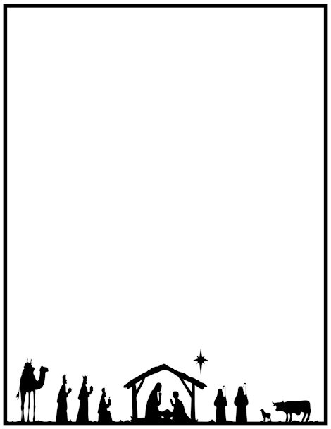 470x608 Printable Nativity Border. Free Gif, Jpg, Pdf, And Png Downloads
