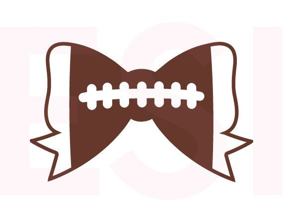 570x450 Football Bow Svg Dxf Eps Svg Cutting Files For Use In Silhouette