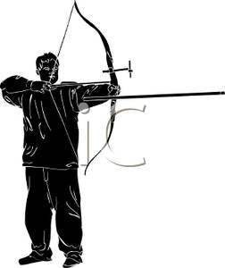 252x300 Silhouette Of A Boy Shooting A Bow