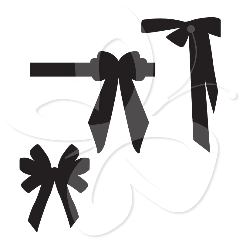 801x801 Bow Silhouette Clipart Clipart Suggest