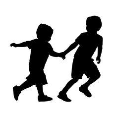 236x236 Free Silhouette Children Cliprt Image Cliprt Silhouette