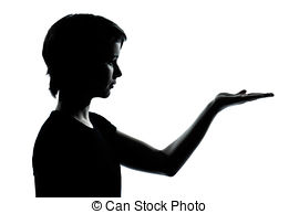 270x194 One Young Teenager Boy Or Girl Silhouette. One Caucasian Stock