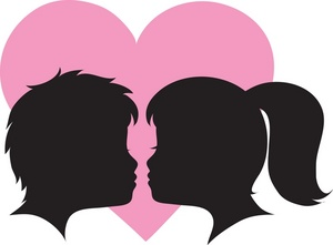 300x221 Girl And Boy Face Clipart