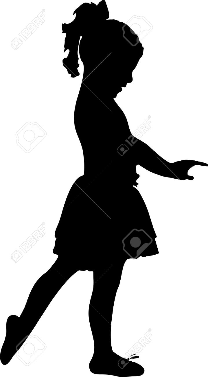 719x1300 Girls Silhouette Clipart