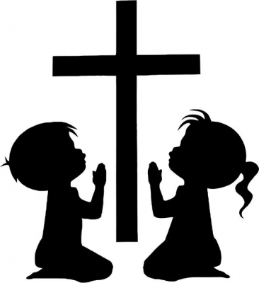 366x400 Little Girl Praying Silhouette. Angel Boy Praying Silhouette