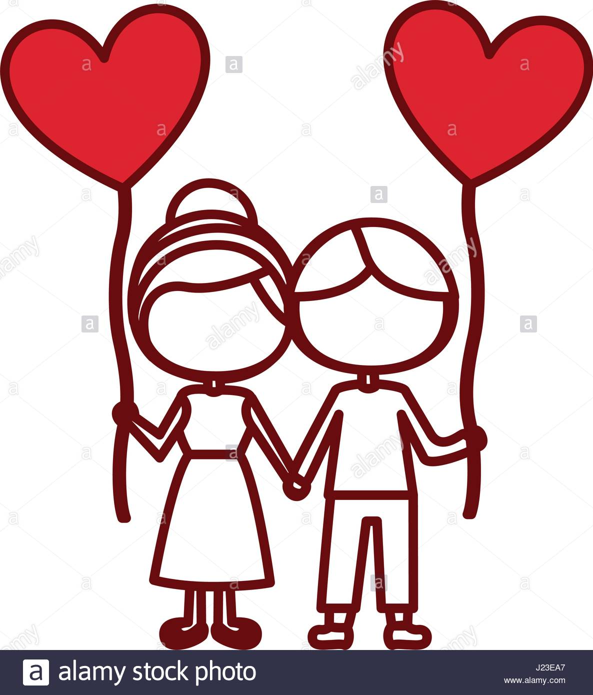 1186x1390 Red Silhouette Of Caricature Faceless Couple Of Boy And Girl