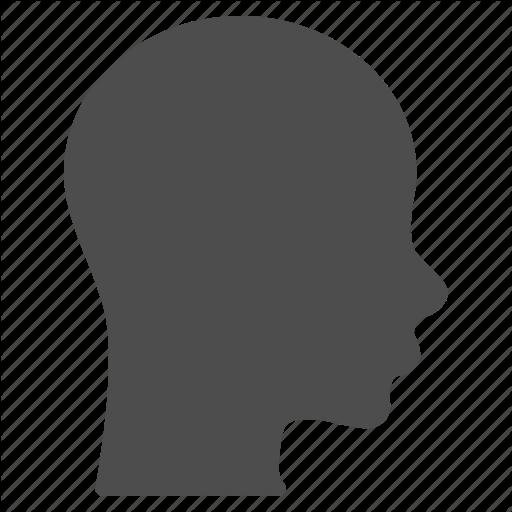 512x512 Brain, Face, Head, Human, Patient Head, Profile, Silhouette Icon