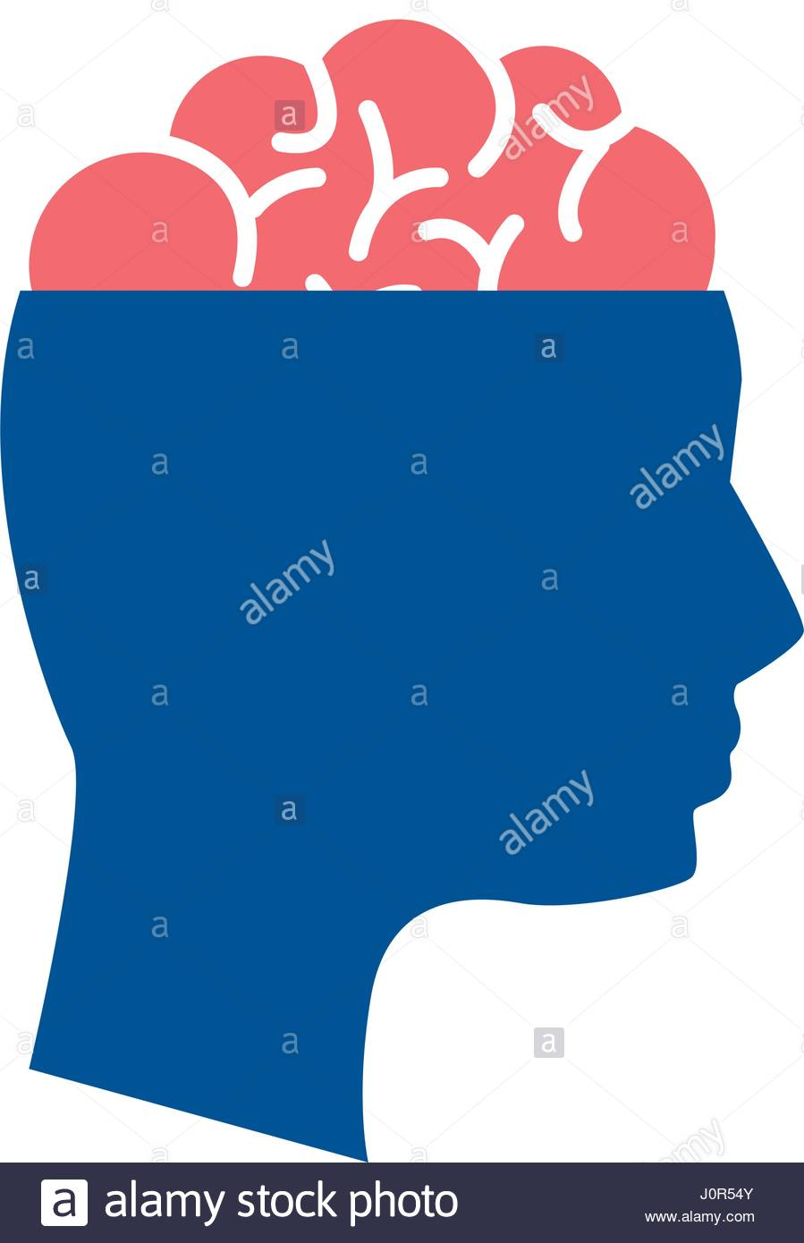 899x1390 Mental Health Silhouette Person With Brain Stock Vector Art