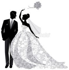 236x237 Bride And Groom Silhouette Templates Pinterest Vintage