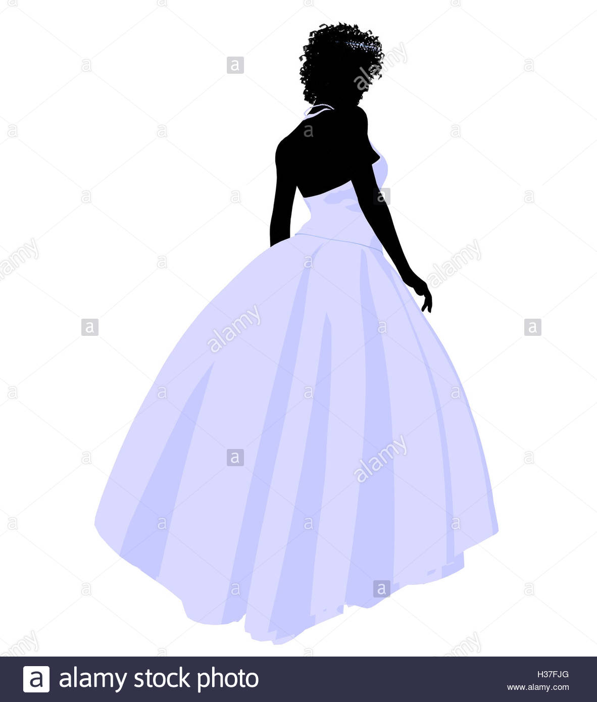 1182x1390 African American Wedding Bride Silhouette Stock Photo, Royalty