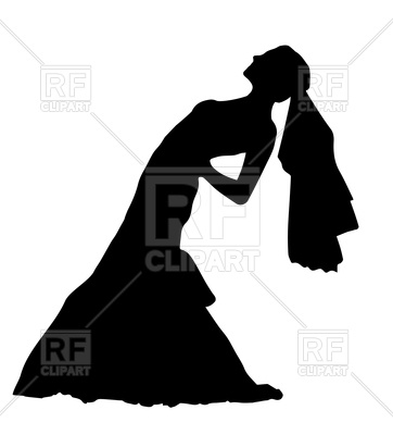 362x400 Silhouette Of Bride Royalty Free Vector Clip Art Image