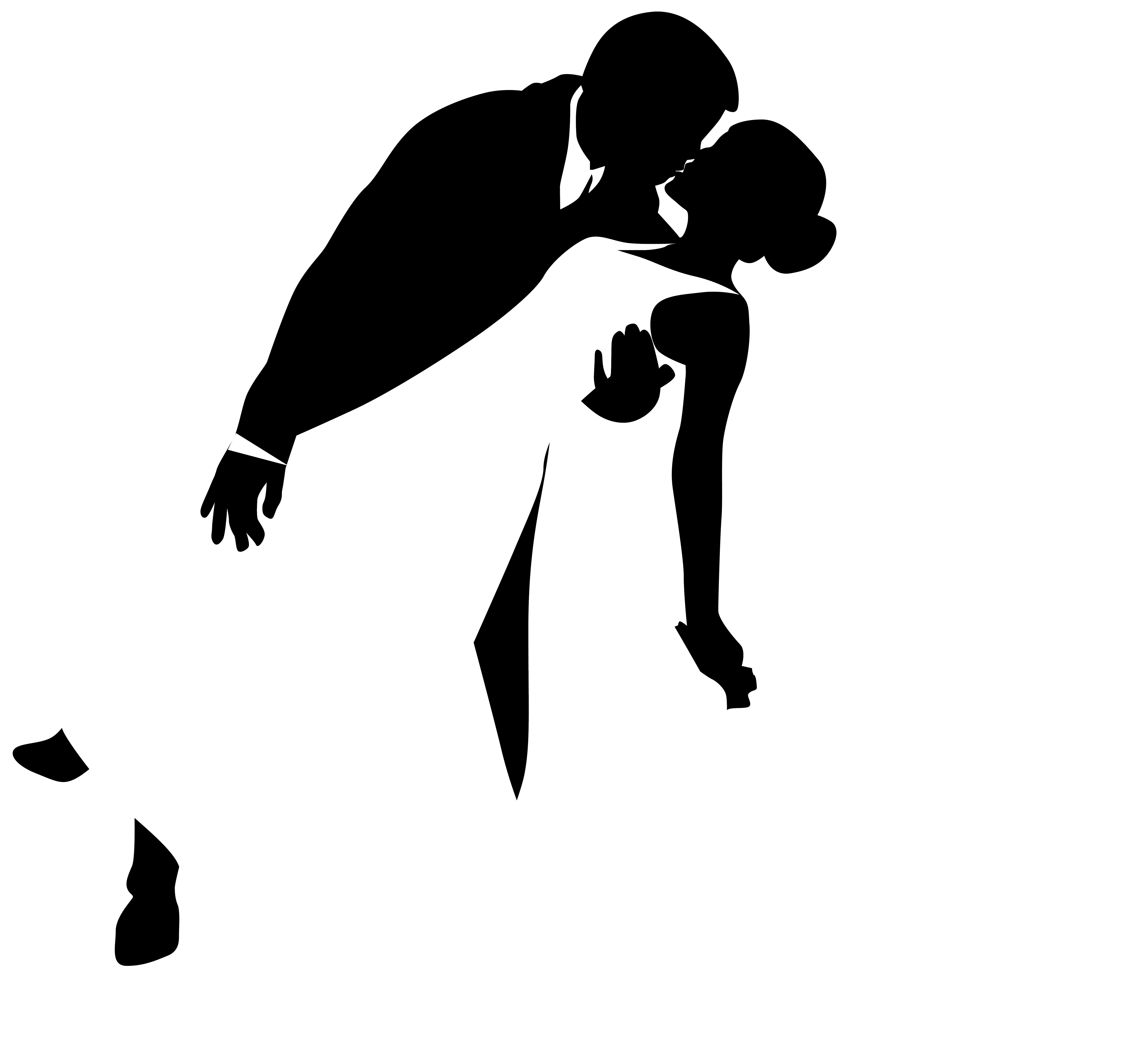 4984x4500 Wedding Silhouette Clip Art