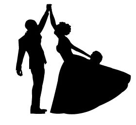 280x258 Bride And Groom Silhouette Free Clip Art Mydrlynx