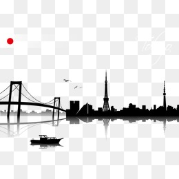 260x260 Bridge Silhouette Png, Vectors, Psd, And Clipart For Free Download