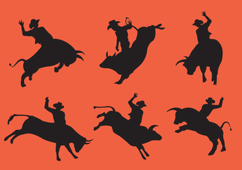 352x247 Bull Rider Riding Wild Bull Free Vector Download 394973 Cannypic