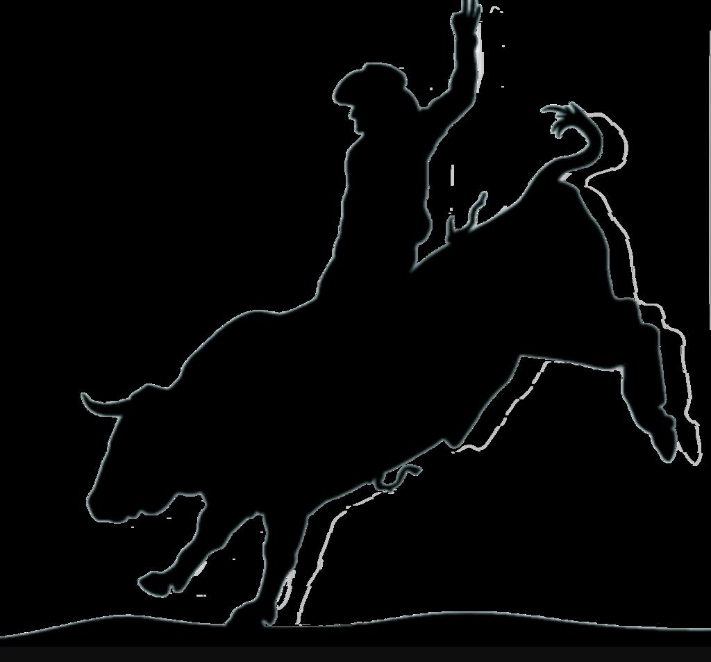 Silhouette Bull Rider at GetDrawings   Free download