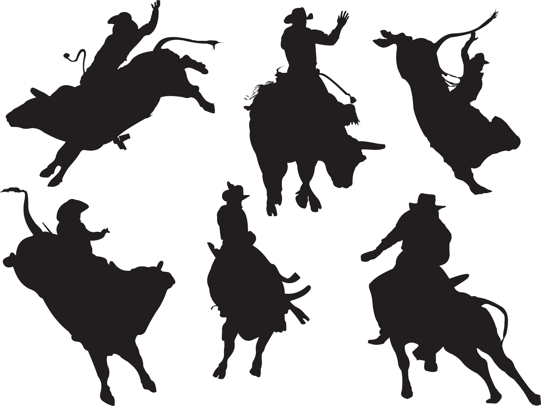 Silhouette Bull Rider at GetDrawings | Free download