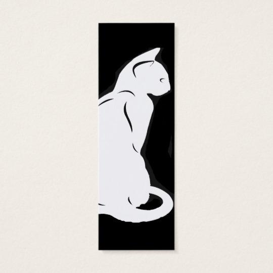 540x540 Cat Silhouette Bookmark Mini Business Card