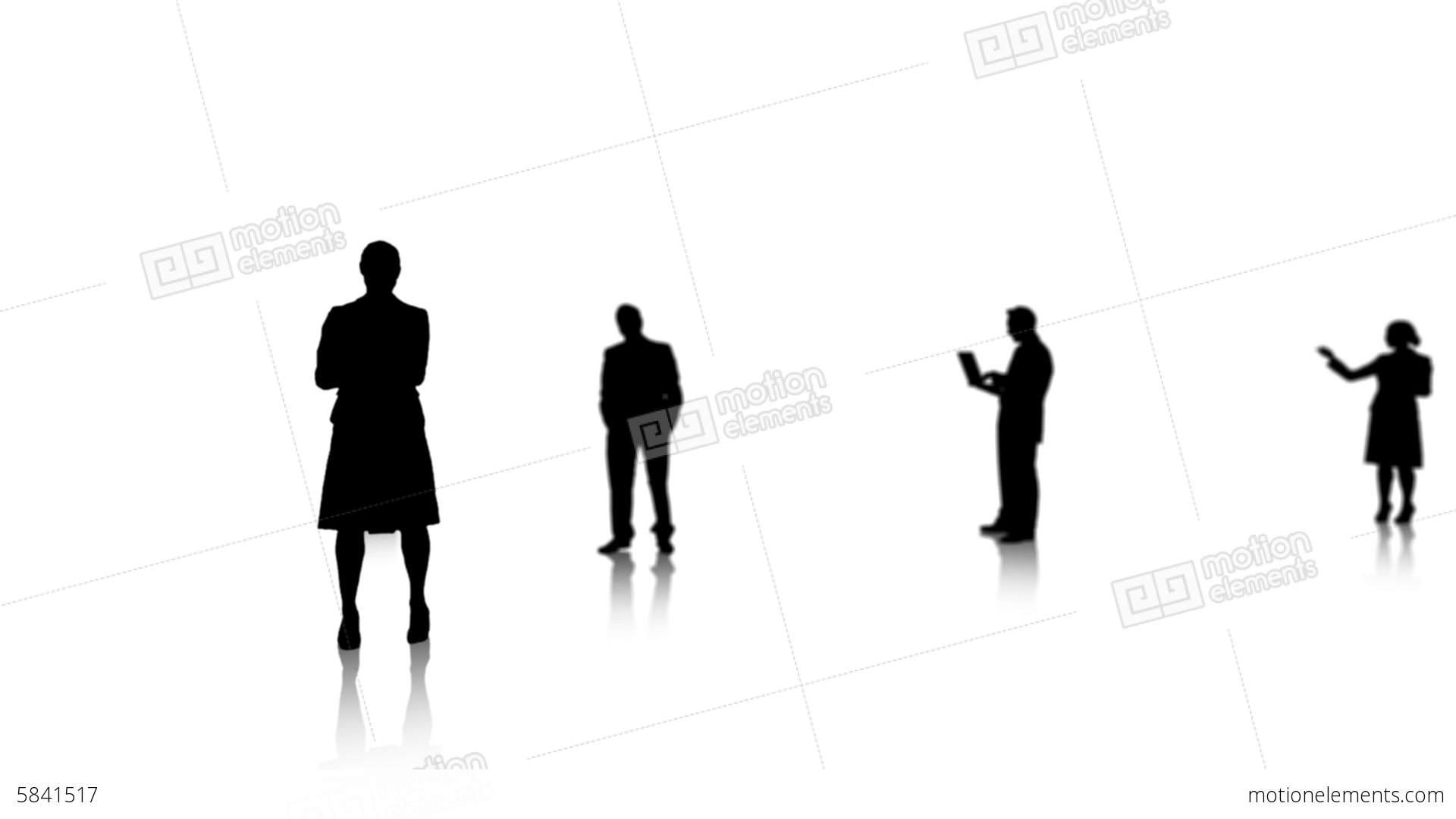 1920x1080 Silhouette Of Businesswoman Presenting Chroma Key Stock Animation