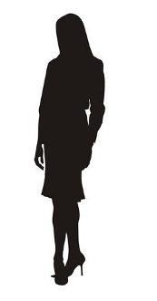 173x330 Business Woman Silhouette 1 Decal Sticker