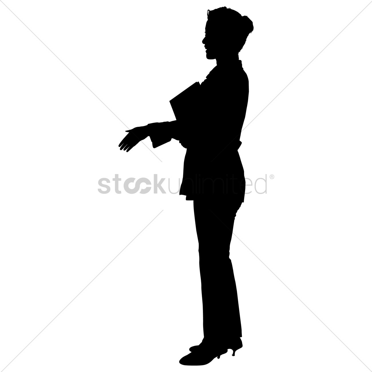 1300x1300 Silhouette Of A Businesswoman Vector Image