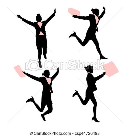 450x470 Silhouette Of Business Woman With White Background Eps Vectors