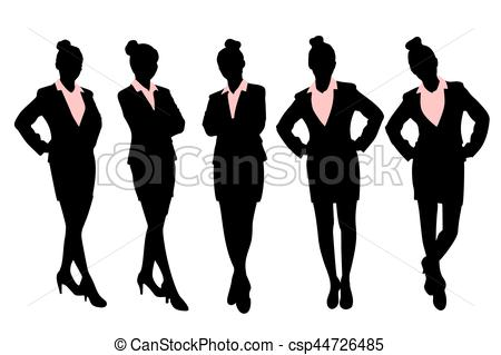 450x319 Silhouette Of Business Woman With White Background Vector