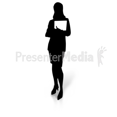 400x400 Woman Silhouette Holding Document