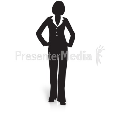 400x400 Businesswoman Silhouette Waiting
