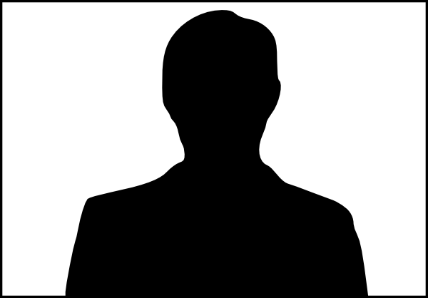 600x418 Silhouette Male Bust Clip Art