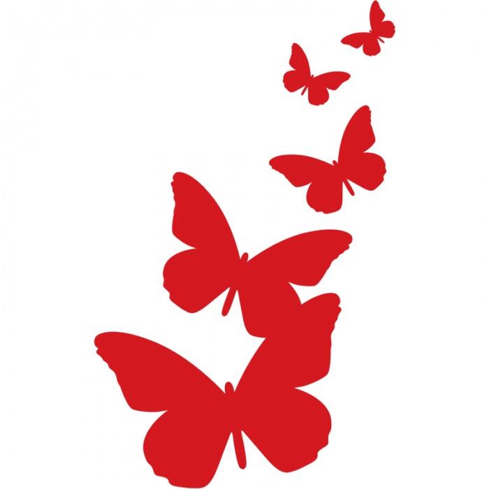700x700 Digidecor Butterflies Silhouette Wall Art
