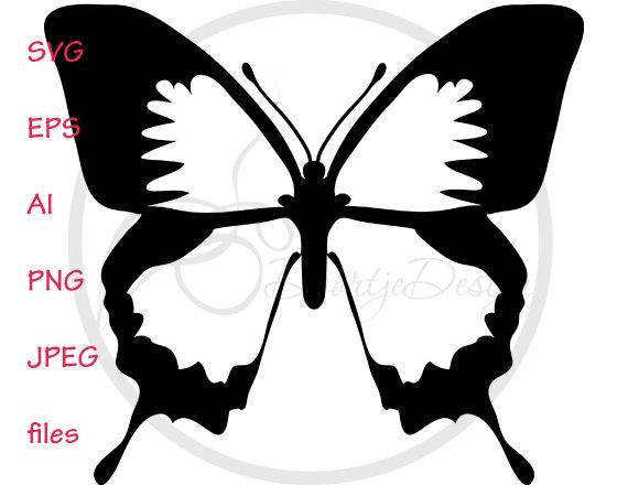570x440 Silhouette Digital Clipart Butterflies Clipart Butterflies