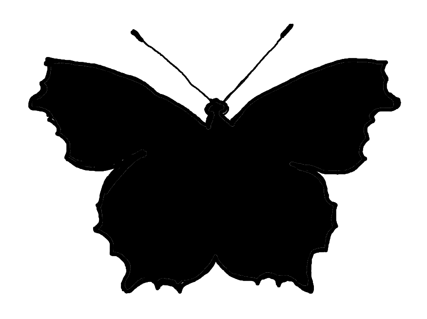 876x655 Butterfly Silhouette Clip Art