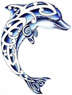 236x311 Tribal Dolphin 3567 Tribal Dolphin Emperador Tattoo Ideas