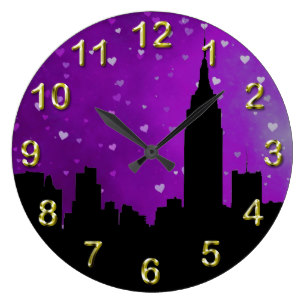 307x307 New York City Wall Clocks Zazzle.co.uk