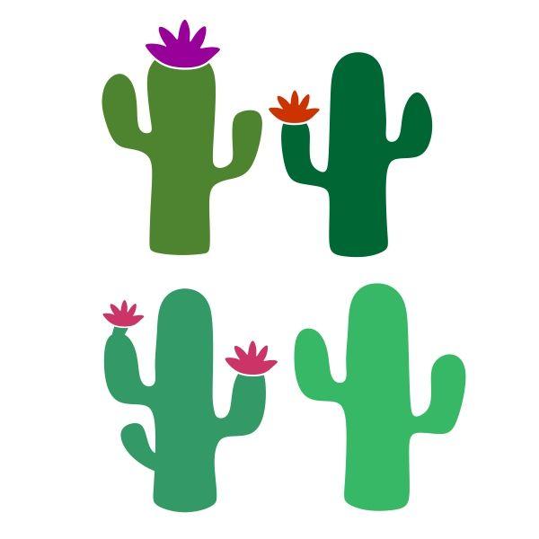 600x600 Cactus Pack Cuttable Design Cut File. Vector, Clipart, Digital