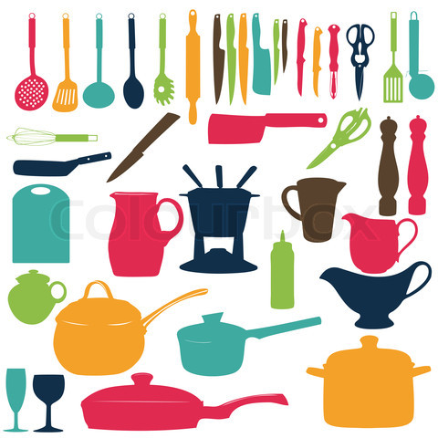 480x480 List Of Synonyms And Antonyms Of The Word Kitchen Utensils Silhouette