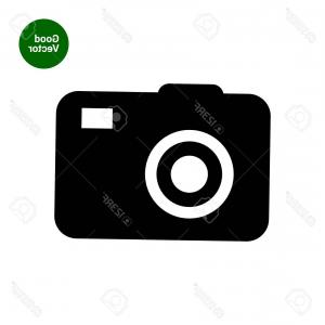 300x300 Camera Lens Icon Flat Eye Camera On White Background Silhouette