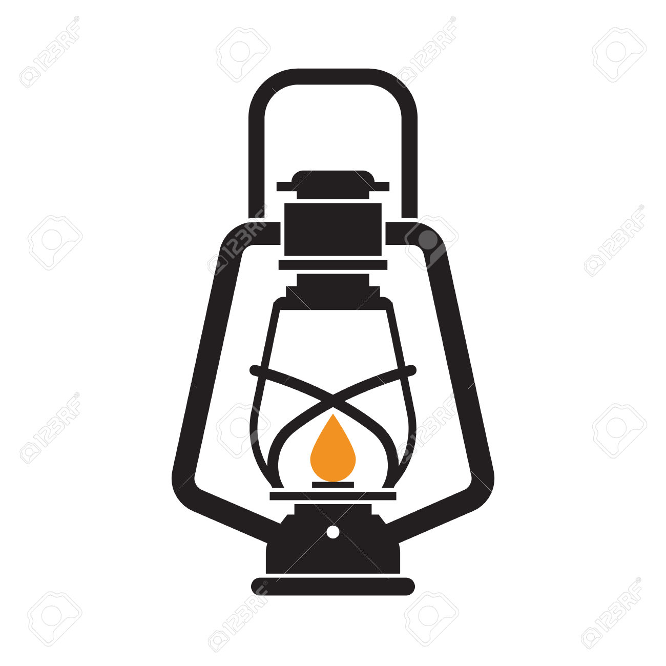 1300x1300 Oil Lamp Clipart Camping