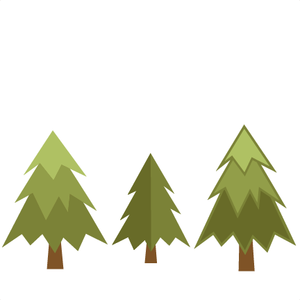 432x432 Pine Tree Set Svg Scrapbook Cut File Cute Clipart Files