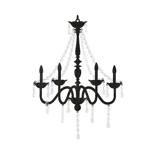 500x500 Chandelier Silhouette Wall Decoration