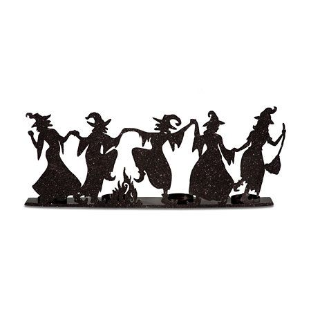 450x450 Dancing Witches Candle Holder Halloween Holidays