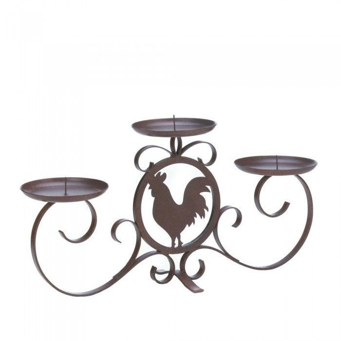 700x700 Rooster Silhouette Candleholder Products Products