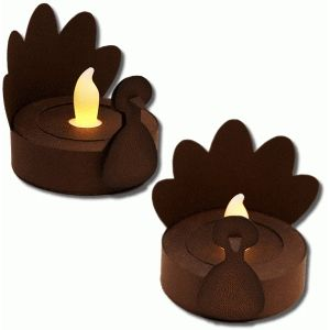 300x300 Silhouette Design Store 3d Turkey Tealight Holder Silhoutte