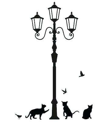 359x400 Candle Lamp Post Silhouette Lamp Post 3 Indoor Candle Lamp Post