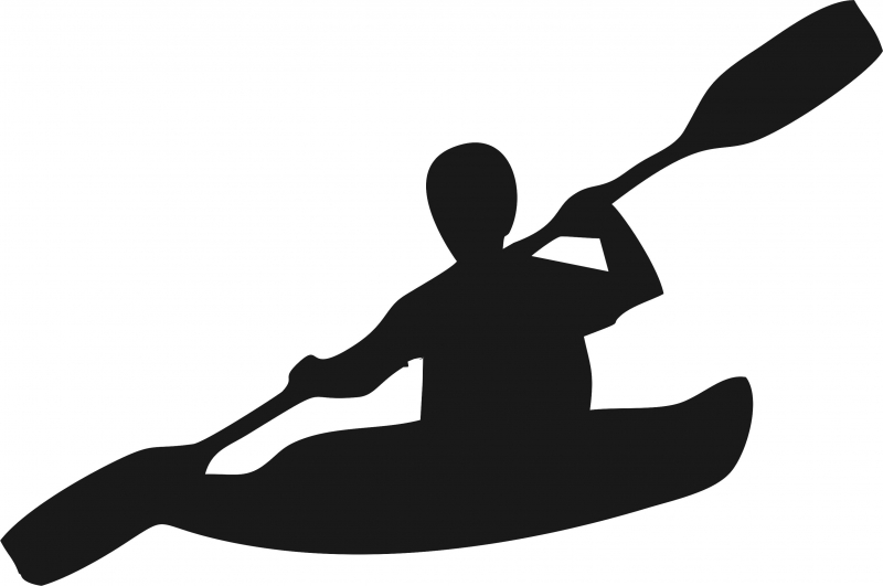 800x531 Kayaker Silhouette Laser Cut Appliques