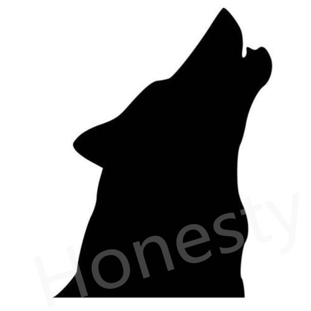 640x640 Wolf Holwling Silhouette Car Wall Home Glass Window Door Car